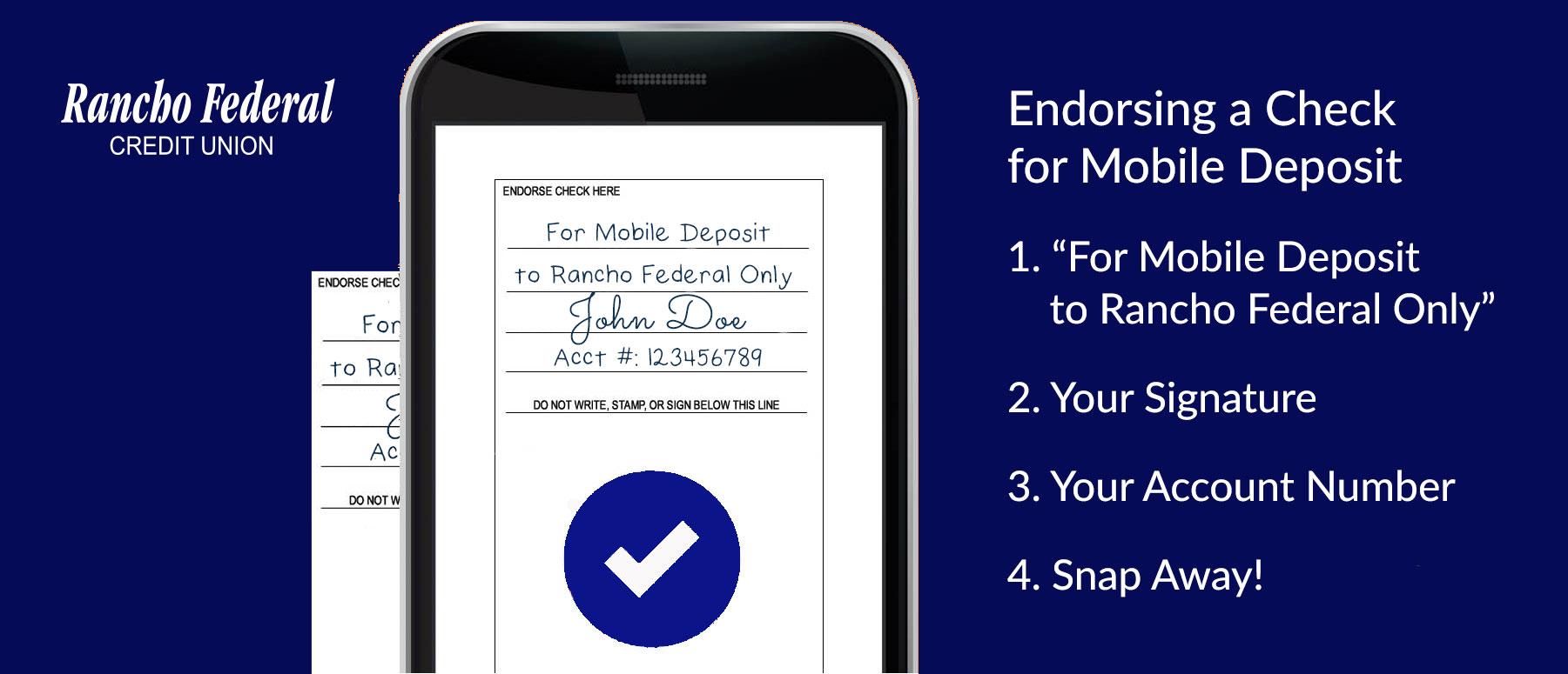 Remote Deposit Endorsement